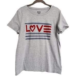 EV1 Soft & Comfie Gray LOVE T Shirt XL